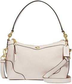 COACH Pebbled Leather Ivie EW Small Shoulder Bag
