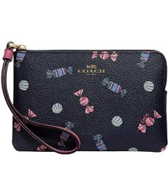 COACH Scattered Candy Print Corner Zip