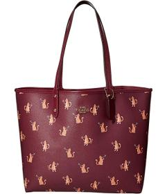 COACH Party Cat Print Reversible City Tote