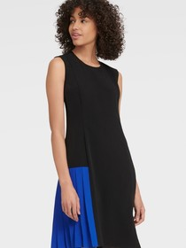 Donna Karan SLEEVELESS COLORBLOCK DRESS