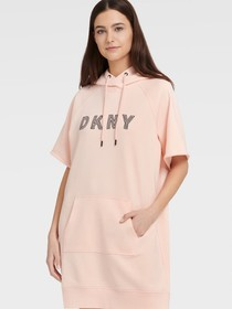 Donna Karan EMBROIDERED TRACK LOGO SNEAKER DRESS