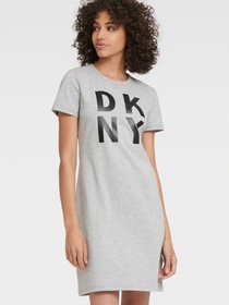 Donna Karan STACKED LOGO T-SHIRT DRESS