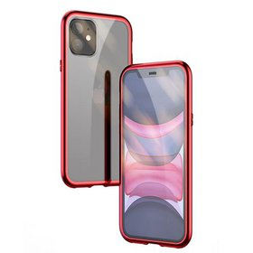 iPhone 11 Case, Magnetic Metal Frame Front and Bac