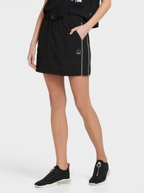 Donna Karan CARGO SKIRT WITH BUCKLE