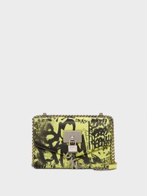 Donna Karan ELISSA SMALL GRAFFITI SHOULDER BAG