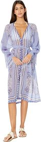 Etro Sheer Long Sleeve Cover-Up Dress