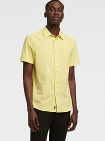 Donna Karan SHORT SLEEVE SEERSUCKER SHIRT