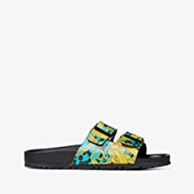 Versace Jeans Couture Leo Print Slide Sandal with