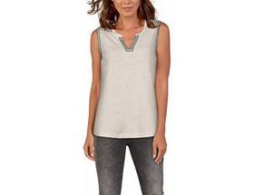 Natural Reflections Embroidered Tank Top for Ladie