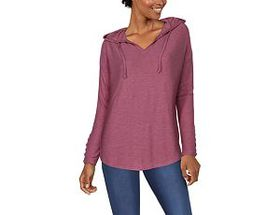 Natural Reflections Long-Sleeve V-Neck Hoodie for