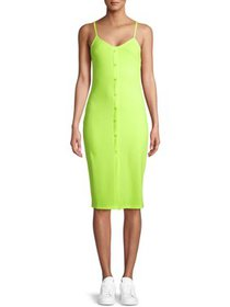 Say What Juniors' Button Front Bodycon Midi Dress