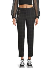 Eye Candy Juniors Double Knit Pull-On Pants with C