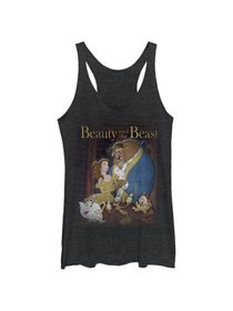 Disney Beauty And The Beast Poster Black Juniors T