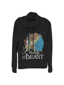Beauty and the Beast Juniors' Classic Cowl Neck Sw