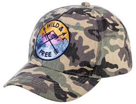 Quagga Wild and Free Camo Cap for Ladies