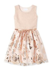 The Children's Place Girls 4-16 Foil Jacquard Dres