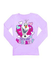 Disney Frozen Olaf Cute and Huggable Girls Lilac P
