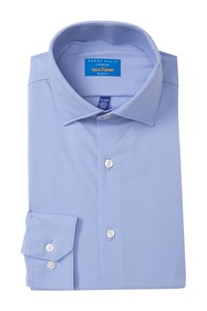 Perry Ellis Solid Tech Slim Fit Dress Shirt