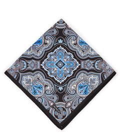 Cremieux All Over Paisley Silk Pocket Square