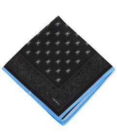 Cremieux All Over Skull Woven Silk Pocket Square