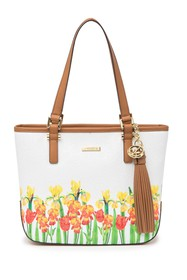Calvin Klein Large Floral and Logo Embossed Tote B