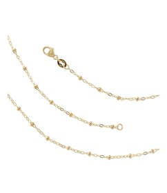James Avery Forged 14K Gold Beaded Chain