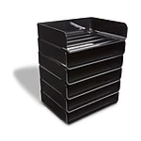 TRU RED™ Side Load Stackable Plastic Letter Tray,