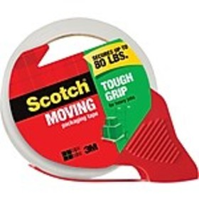 Scotch® Tough Grip Moving Packing Tape with Dispen