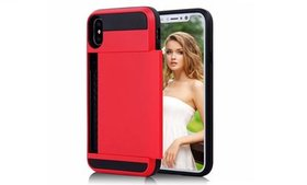 Impact Resistant Wallet Cover iPhone X Case Card S