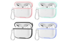 Stylish Eggshell PC Clear Case for AirPods Pro w/