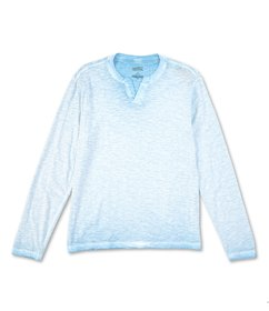 Cremieux Jeans Solid Notch Neck Long-Sleeve Tee