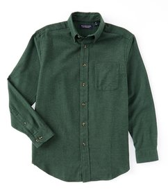 Roundtree & Yorke Long-Sleeve Solid Portuguese Fla