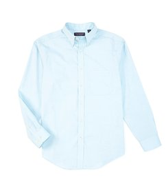 Roundtree & Yorke Long-Sleeve Solid Pinpoint Oxfor