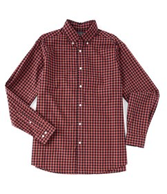 Roundtree & Yorke Long-Sleeve Gingham Tailored to