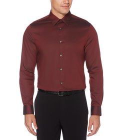 Perry Ellis Non-Iron Solid Twill Long-Sleeve Woven
