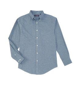 Roundtree & Yorke Long-Sleeve Checked Pinpoint Oxf