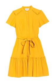 Donna Morgan Short Sleeve Belted FIt & Flare Dress