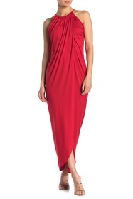Vanity Room Grecian Drape Maxi Dress