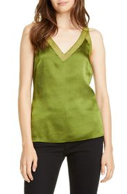 Ted Baker London Mesh Detail Textured Satin Tank T