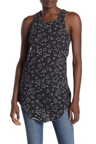 Frank & Eileen Tee Lab Star Print Extra Long Layer