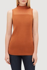 Lafayette 148 New York Sheer Turtleneck Tank Top