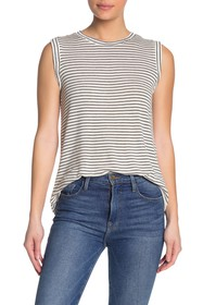 cupcakes and cashmere Opel Striped Tank Top