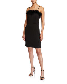Laundry By Shelli Segal Faux Feather Trim Square N