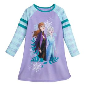 Disney Anna and Elsa Long Sleeve Nightshirt for Gi