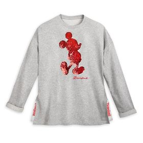 Disney Mickey Mouse Reversible Sequin Sweatshirt f