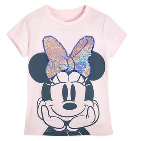 Disney Minnie Mouse Flip Sequin T-Shirt for Girls