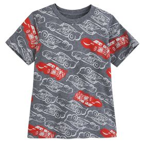 Disney Lightning McQueen Print T-Shirt for Boys