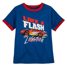 Disney Lightning McQueen Ringer T-Shirt for Boys