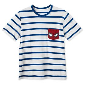 Disney Spider-Man Striped T-Shirt for Men
