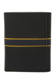 Ted Baker London Striped Leather Trifold Wallet